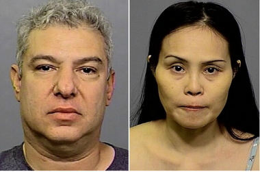 Kevin I. Jasper, left, and Jianying Chen were charged with human trafficking and promoting prostitution