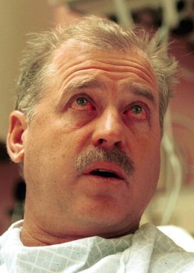 Eisenbarth describes his survival while at St. Francis Medical Center in Trenton on Sept. 11, 2001. (Times of Trenton file photo)