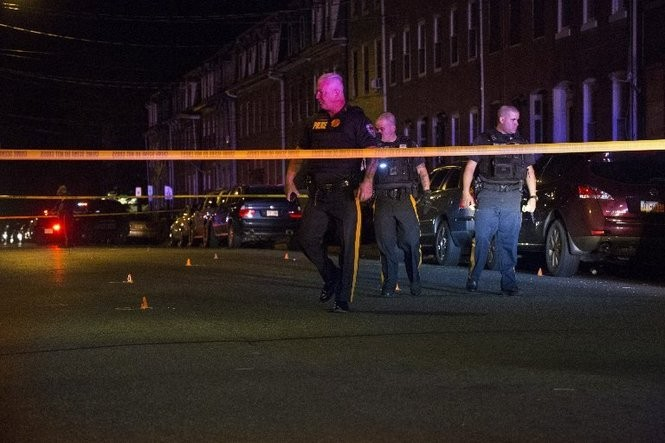 Police on the scene of a shooting late one Sunday evening.(Michael Mancuso | For NJ.com)