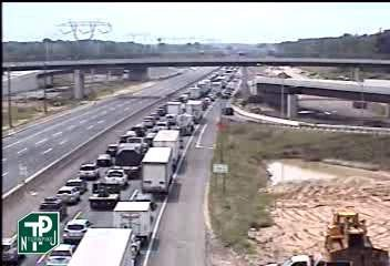NJ Turnpike truck crash forces closure of all northbound