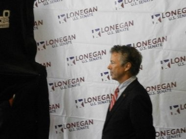 Rand Paul appearing at a September fund-raising event for Steve Lonegan in Clark.