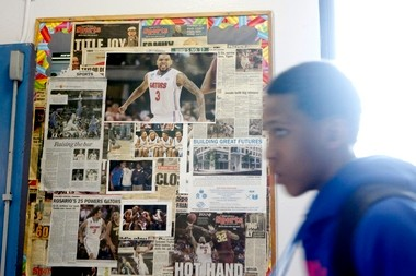 A board of newspaper clippings at the Boys & Girls Club in Jersey City is dedicated just to Mike Rosario. Rosario became a star guard at St. Anthony and moved on to play at Rutgers, where he put together two unspectacular seasons before transferring to Florida.