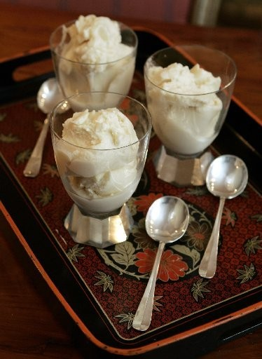 Parsnip Ice Cream, served up as a delectable dessert, has been made by food writer Barbara Kafka.