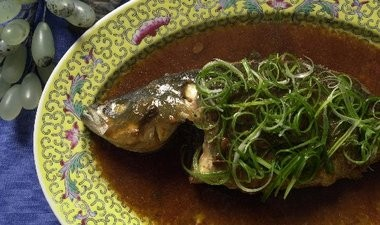 Whole fish is served for good luck at the Lunar New Year.
