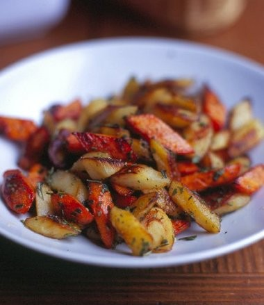 Oven-roasted root vegetables such as parsnips and carrot develop a sweet, mellow flavor that lends flavor, texture, color and nutrition to any meal.