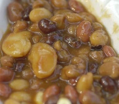Baked beans can utliize more than one variety of dried bean.