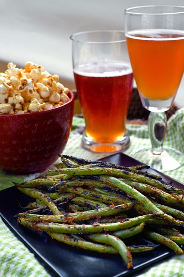Pan-Seared Green Beans make a great cocktail hour snack.