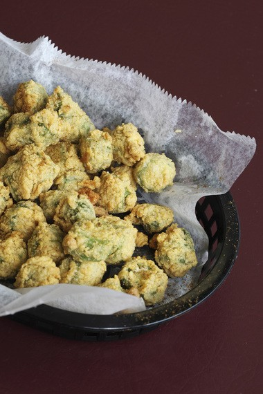 The fried okra at Red Line Grill in Hillside.