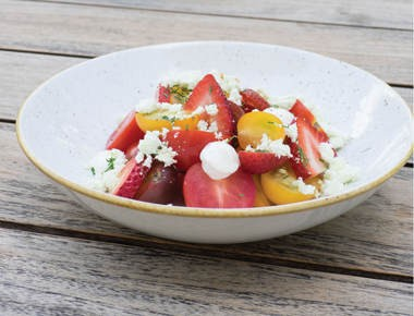 The Diving Horse Tomato Salad from the Diving Horse in Avalon