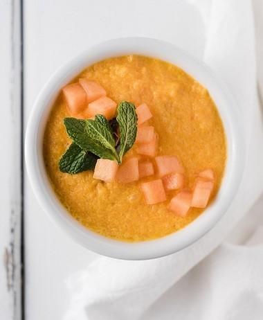 Cantaloupe soup can be served as a summer dessert. (Megan Von Schonhoff)