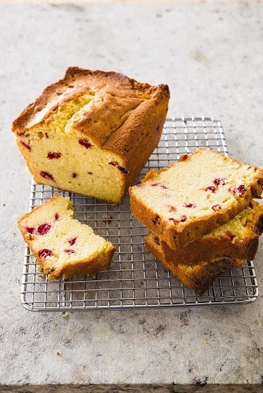 This cranberry-sour cream pound cake may be frozen for up to 1 month. (Photo courtesy of America's Test Kitchen)