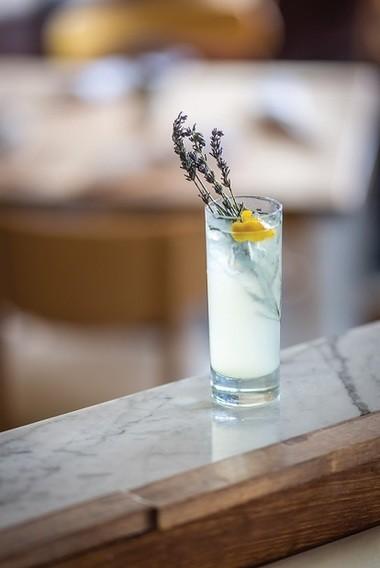 Lavender lemonade. (Noah Fecks)