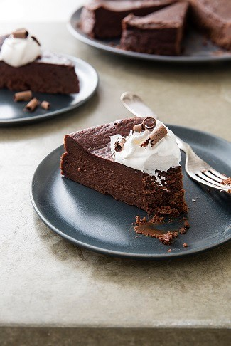 """""""Incredibly rich and impossibly smooth, flourless chocolate cake is elegant, refined, and universally beloved,"""" say the editors at America's Test Kitchen. (Photo courtesy of America's Test Kitchen)"""