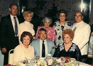 The Coppola family in the 1980âs: Pictured (seated, from left) are Evelyn Coppola and husband Eugene Coppola; and Sally Coppola Brokaw; (standing, from left) Raymond Picaroni and wife Doris (Coppola); Elmina (Coppola) DeGatano; Lucille (Coppola) and husband Anthony Pepe. (Photo courtesy of the Coppola family)