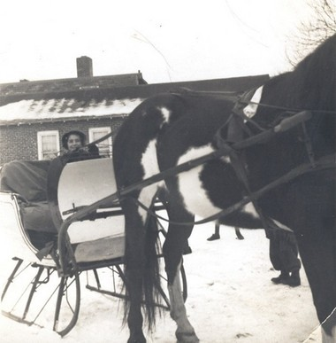 Sally Coppola at Kensington Stables in 1937.