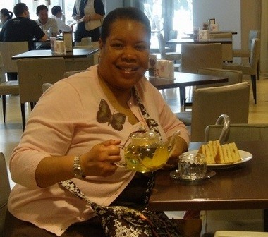 Shown here at the National Palace Museum in Taiwan, certified tea specialist and collector Darlene Meyers-Perry will be the featured guest speaker for 'Teapot Tales,' the Kenilworth Historical Society's April 25 annual tea benefit for the local historic Oswald J. Nitschke House museum and cultural arts center. (courtesy photo)