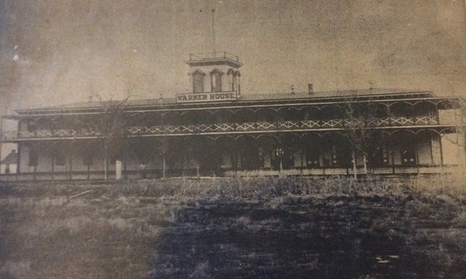 The Warner House was the main draw for people to come to Seabreeze until it burned down in 1890. This Bridgeton Evening News photograph shows the hotel before the fire. (Photo courtesy of the Lummis Library)