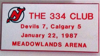 All 334 fans at the game received a badge from the Devils.