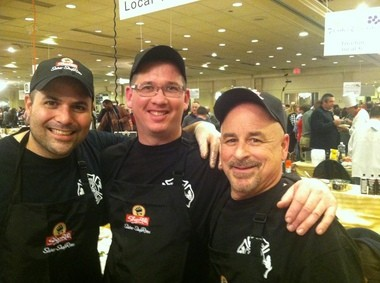 The New Brunswick Fire department culinary team included, from left, Charlie Luizza, Tony Jones and Vinnie Inzano.