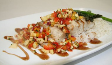 Mahi dish, served with a tropical salsa, available at SweetWater Bar and Grill in Cinnaminson.