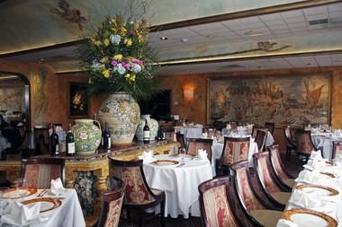 The dining room at Il Capriccio