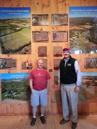 Winemaker Cameron Stark and Unionville Vineyards owner Robert Wilson