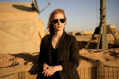 """""""Zero Dark Thirty,"""" the thriller about the hunt for Osama bin Laden, picked up a best picture and best actress nomination for Jessica Chastain and a best original screenplay nod for Mark Boal, but Kathryn Bigelow was denied a best director nomination."""