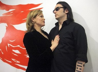 "Damien Echols and his wife, Lorri Davis, at the New York premiere of ""West of Memphis,"" which focuses on Echols, who spent 18 years on death row for the murder of three boys in 1993. He was freed in 2011."