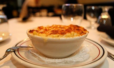 The white truffle mac and cheese at The River Grille in Chatham, winner of the best restaurant mac and cheese.