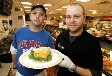 Jeremy and Josh Gryvatz show off the 12 cheese and mac at Double D Market and Catering in Old Bridge, winner of the best deli/market mac and cheese.