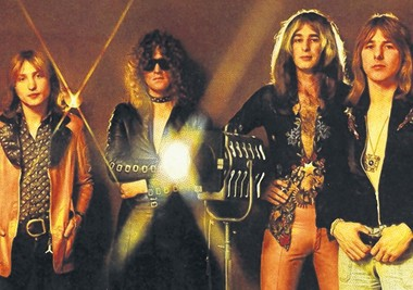 "Mott the Hoople from the cover of its 1973 ""Mott"" album, from left: Buffin Griffin, Hunter, Overend Watts and Mick Ralphs."