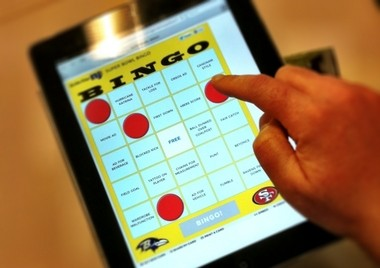 Play Super Bowl Bingo this Sunday with your tablet, phone, computer or a printout.