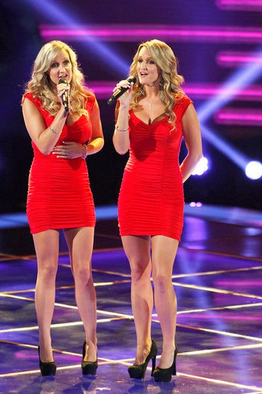 """The Morgan Twins were the first twins ever to perform on """"The Voice"""" and advanced past the blind auditions. The sisters from Rochester New York will be on Blake Shelton's team."""