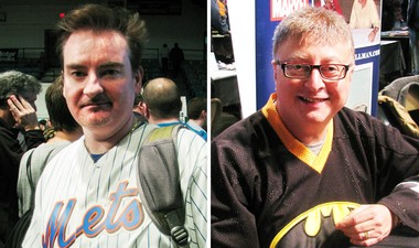 "Actor Brian O'Haloran (""Clerks"") and producer Michael Uslan (""The Dark Knight Rises"")."
