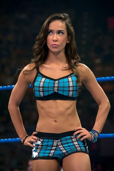 AJ Lee of the WWE from Union City, New Jersey Courtesy of WWE.