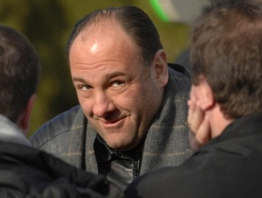 James Gandolfini filming 'The Sopranos' in Long Branch in 2007.