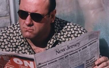 James Gandolfini as Tony Soprano.