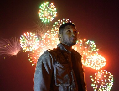 Usher worked on the score for Macy's fireworks show, which can be seen over the Hudson from Weekhawken and Hoboken.