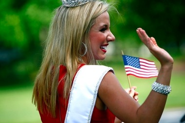 Cara McCollum may be from Forrest City, Arkansas, but upon visiting Princeton University for the first time, she considered herself 'a Jersey girl through and through.' As Miss New Jersey, she spent her Fourth of July at two parades, one in Galloway Township and another in Philadelphia.