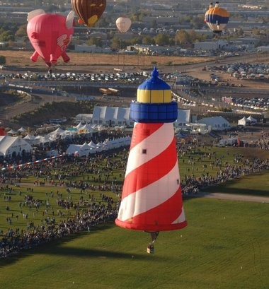 Inspired by the shore's post-Sandy recovery, the Quick Chek New Jersey Festival of Ballooning in Readington will fly a 115 foot tall balloon that's shaped like a lighthouse.