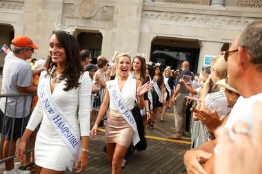 Miss New Jersey, Cara McCollum, center, may be from Arkansas but she's representing New Jersey for nearly two weeks at the Miss America pageant, which airs live from Atlantic City's Boardwalk Hall Sept. 15 on ABC.