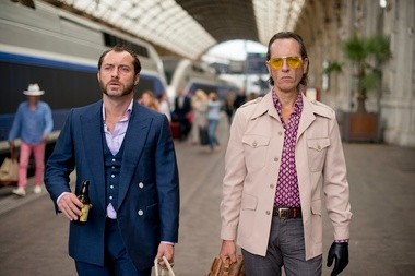 Jude Law, left, and Richard E. Grant are bad men with even worse taste in 'Dom Hemingway'