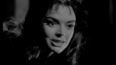In the 1960 film 'Black Sunday,' at Loew's Jersey Theatre tonight, Barbara Steele stars as a witch that returns from the grave for revenge.
