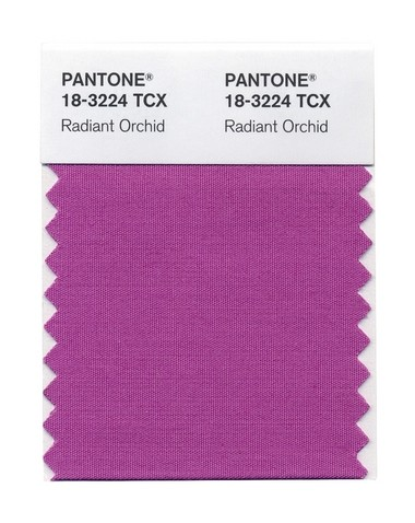 Radiant Orchid, Pantone's color for 2014, stirring creativity and livening things up.