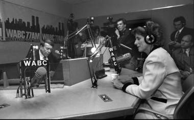 Then-Gov. Christie Whitman appears on Bob Grant's radio show in 1994. She later distanced herself from the talk show host over racially insensitive comments.