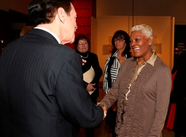 Dionne Warwick, right, with Joe Piscopo. Both were inducted to the New Jersey Hall of Fame's class of 2013.