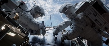 George Clooney and Sandra Bullock in 'Gravity,' just before things start to go seriously wrong