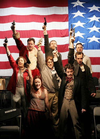 """The musical """"Assassins"""" is both satirical and serious."""