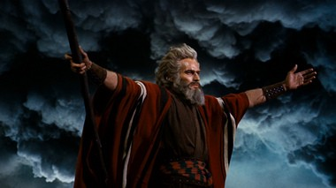 Charles Heston, the go-to star for epics, in the classic version of 'The Ten Commandments'