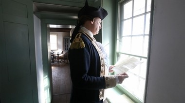A scene from Star-Ledger documentary 'Being George,' with John Godzieba, one man who makes it his passion to portray George Washington.